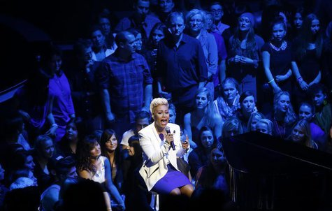 Scottish singer Emeli Sande performs during the Echo music awards ceremony in Berlin, March 21, 2013. Picture taken March 21, 2013. REUTERS/