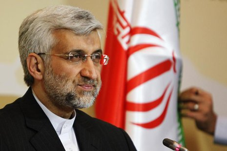 Iran's chief negotiator Saeed Jalili attends a news conference after the talks on Iran's nuclear programme in Almaty, April 6, 2013. REUTERS