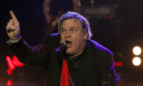 "U.S. singer Meat Loaf performs during the German game show ""Wetten Dass"" (Bet it...?) in the southern German town of Friedrichshafen Decembe"