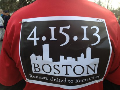 Kalamazoo Solidarity Run honoring those impacted by the Boston Marathon bombings on April 15, 2013