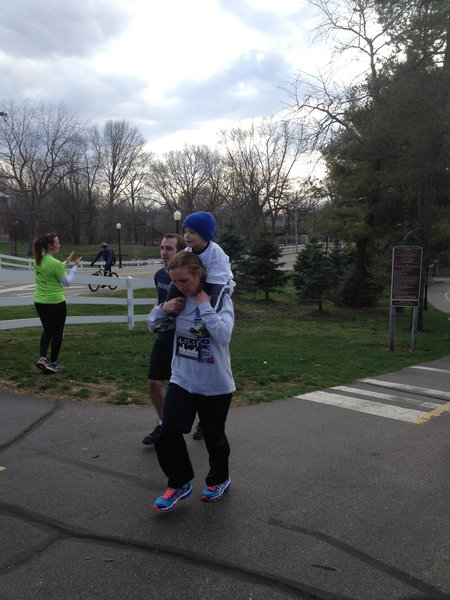 Families crossed the finish line together - Kalamazoo Solidarity Run