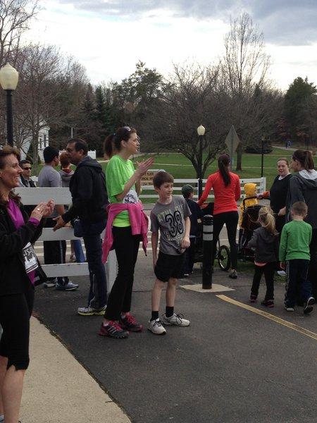 Racers were cheered to the finish line - Kalamazoo Solidarity Run
