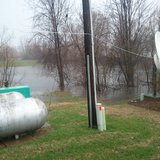 Flooding conditions as seen at the studios of WHTC-AM/WYVN-FM on Apr. 18, 2013.