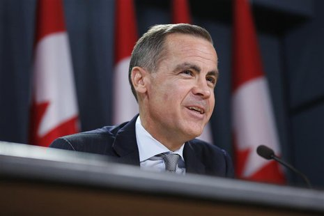 Bank of Canada Governor Mark Carney speaks during a news conference upon the release of the Monetary Policy Report in Ottawa April 17, 2013.