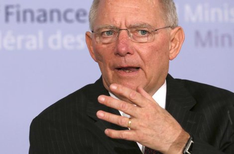 Germany's Finance Minister Wolfgang Schaeuble addresses a news conference in Berlin March 18, 2013. REUTERS/Fabrizio Bensch