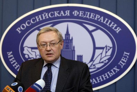 Russia's Deputy Foreign Minister Sergei Ryabkov speaks during a news briefing in the main building of Foreign Ministry in Moscow, December 1