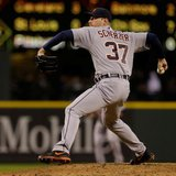 Detroit Tigers RHP Max Scherzer delivers a pitch during a game in Seattle's Safeco Field against the Mariners on Apr. 17, 2013. (photo courtesy Detroit Tigers)