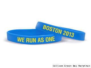 'We Run as One' wristband. (courtesy of the Cellcom Green Bay Marathon).