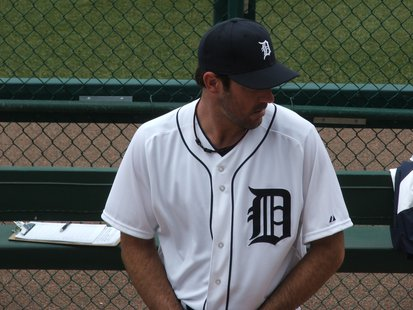 Tigers pitcher Justin Verlander made the start on Thursday afternoon.
