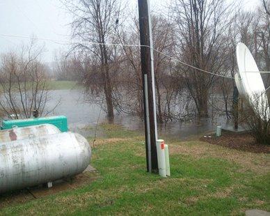 Water ponding near WHTC/WYVN studios