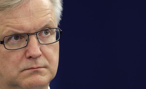 European Economic and Monetary Affairs Commissioner Olli Rehn attends a debate on the situation in Cyprus at the European Parliament in Stra