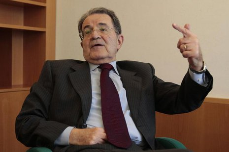 United Nations special envoy to the Sahel Romano Prodi, a former Italian prime minister, speaks during an interview with Reuters at the head