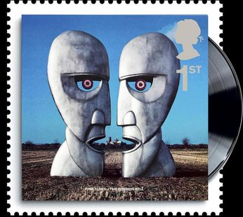 A to-be-released 2010 Royal Mail stamp of the cover of Pink Floyd's album The Division Bell is seen in this handout. REUTERS/Royal Mail/Hand