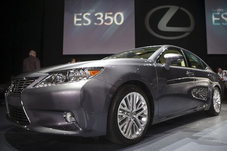 The Lexus ES350 is seen at the car's unveiling during the 2012 New York International Auto Show at the Javits Center in New York, April 4, 2