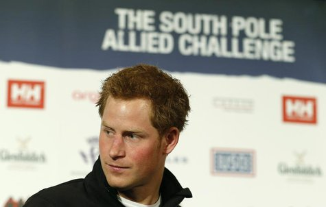 Britain's Prince Harry attends the launch of the Walking with the Wounded South Pole Allied Challenge 2013, in London April 19, 2013. REUTER