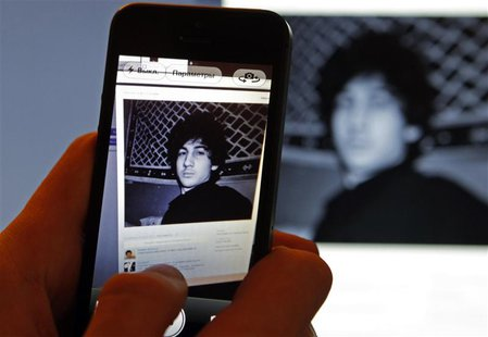 A photograph of Djohar Tsarnaev, who is believed to be Dzhokhar Tsarnaev, a suspect in the Boston Marathon bombing, is seen on his page of R