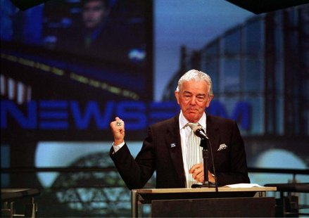 "USA Today founder Al Neuharth speaks at the opening of the ""Newseum"" in Arlington, April 18. NEWSEUM - RTR35OR"