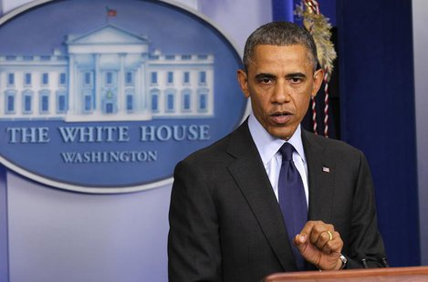 U.S. President Barack Obama speaks to reporters from the White House in Washington, following the capture of the second Boston Marathon bomb