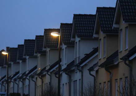 Semi-detached houses are pictured in Dortmund March 10, 2013. REUTERS/Ina Fassbender