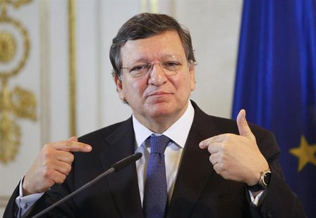 European Commission President Jose Manuel Barroso addresses a news conference in Vienna April 4, 2013. REUTERS/Leonhard Foeger