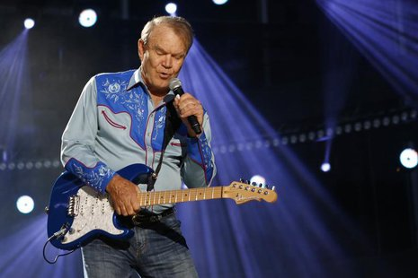 American country music artist Glen Campbell performs during the Country Music Association (CMA) Music Festival in Nashville, Tennessee June