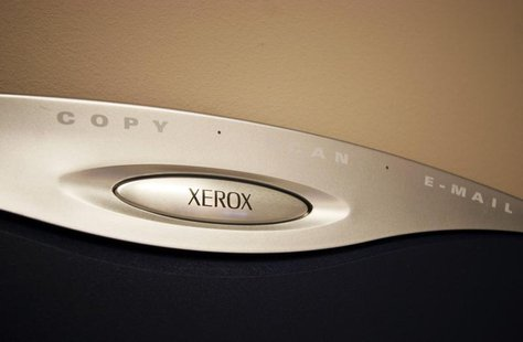 A generic picture of a Xerox logo on a photocopier. REUTERS/Catherine Benson