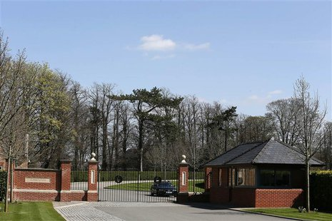 The entrance of Godolphin stables is seen in Newmarket, eastern England April 23, 2013. REUTERS/Stefan Wermuth