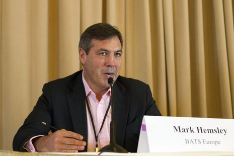 Mark Hemsley chief executive of BATS Chi-X Europe, speaks during the Sandler O'Neill + Partners, L.P. global exchange and brokerage conferen