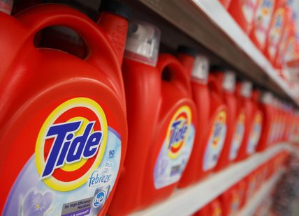 Procter & Gamble's Tide can be seen on display at a new Wal-Mart store in Chicago, January 24, 2012. REUTERS/John Gress