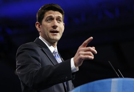 House Budget Chairman Paul Ryan speaks at the Conservative Political Action Conference (CPAC) at National Harbor, Maryland March 15, 2013. R