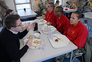 State Representatives Evan Goyke and LaTonya Johnson visit Fort McCoy's Challenge Acadamy