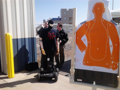 New automated robotic target dummies at the NTC Public Safety Center in Merrill