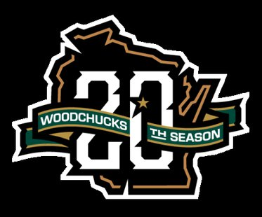 Wisconsin Woodchucks 20th anniversary season logo