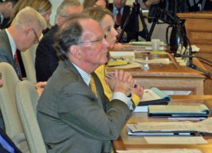 UW Chancellor Kevin Riley at a budget hearing (Photo: Wisconsin Radio Network)