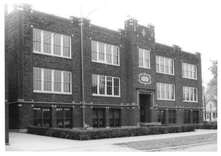Old Clinton High School In Earlier Days