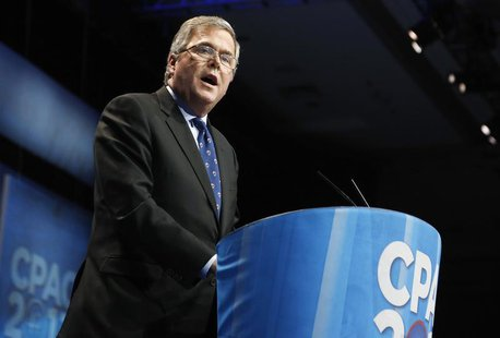 Former Florida Governor Jeb Bush (R-FL) delivers remarks to the Conservative Political Action Conference (CPAC) in National Harbor, Maryland