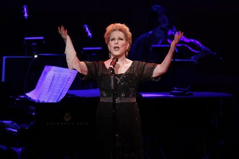 "Singer Bette Midler performs during the ""James Taylor at Carnegie Hall"" gala celebrating 120 years of music at Carnegie Hall in New York Apr"