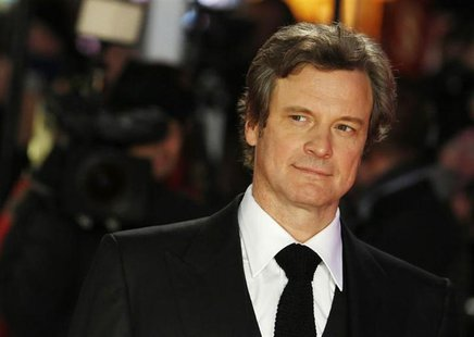 "Cast member Colin Firth arrives for the world premiere of the film ""Gambit"" at Leicester Square in London November 7, 2012. REUTERS/Luke Mac"