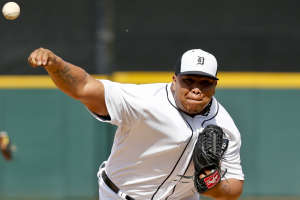 Bruce Rondon made his big league debut on Thursday but the Tigers lost 8-3 in 10 innings.