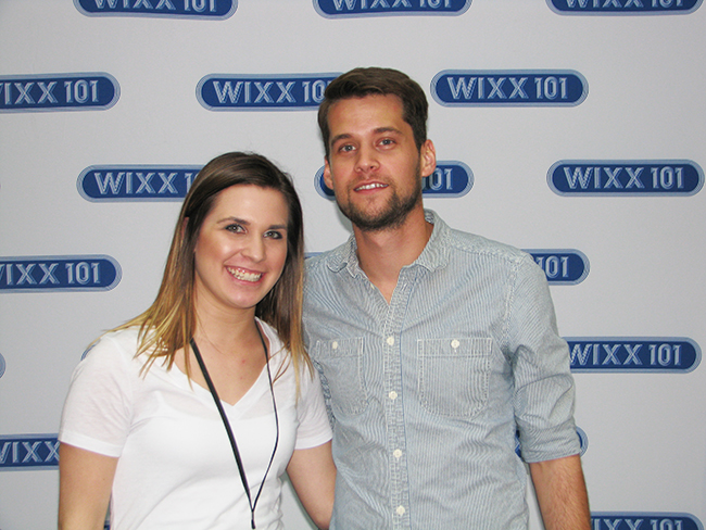 WIXX's Rachel Leigh with Matt Hires