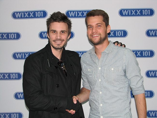 I guess the made-up fast...Jake Kelly with Matt Hires.  Wait..which one is the famous musician??