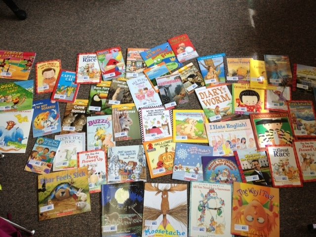 Tough Choices! Thanks to the Hibbing Literacy Action Center all kids in the winning class got to pick a book of their own to keep.