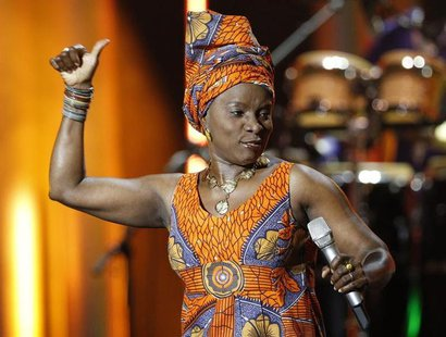 Benin singer Angelique Kidjo performs during the annual Nobel Peace Prize Concert in Oslo December 11, 2011. REUTERS/Leonhard Foeger