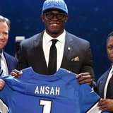 DE Ezekiel Ansah of Brigham Young is the first round pick of the Detroit Lions