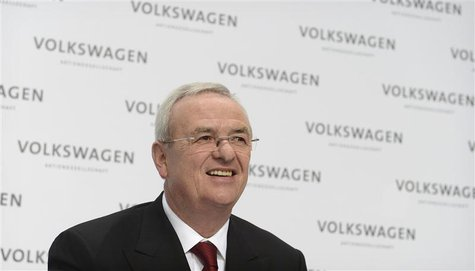 Martin Winterkorn, CEO of German carmaker Volkswagen addresses the annual news conference in Wolfsburg, March 14, 2013. REUTERS/Fabian Bimme