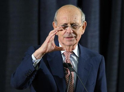 U.S. Supreme Court Justice Stephen Breyer speaks at the Boston University School of Law in Boston, Massachusetts January 24, 2013. REUTERS/B