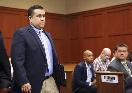 George Zimmerman arrives for a hearing in Seminole circuit court in Sanford, Florida February 5, 2013. REUTERS/Joe Burbank/Pool