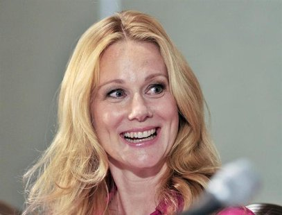 "Actress Laura Linney smiles during the news conference for the film ""Hyde Park on Hudson"" at the 37th Toronto International Film Festival Se"