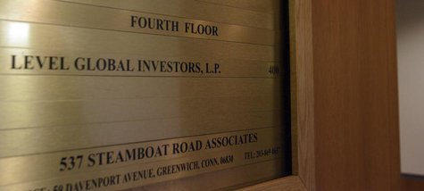 A sign shows that Level Global Investors LP. occupies the fourth floor of this building in Greenwich, Connecticut November 22, 2010. REUTERS