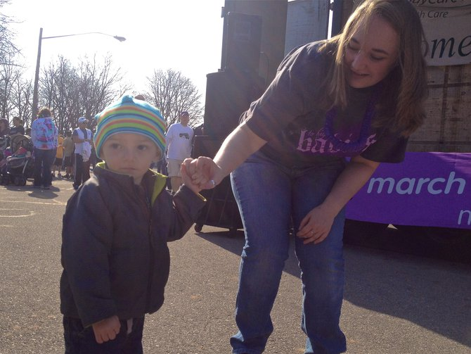 "One of the many ""Miracle Babies"" that the March of Dimes helps save each year.  We didn't get this little guy's name, but his Grandma was proud to say that he was born at THIRTEEN OUNCES and after 3+ months in N.I.C.U., he's happy & healthy!"